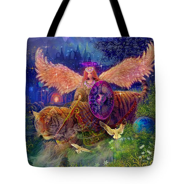 Angel Tarot Card Angel Fairy Dream Tote Bag by Steve Roberts