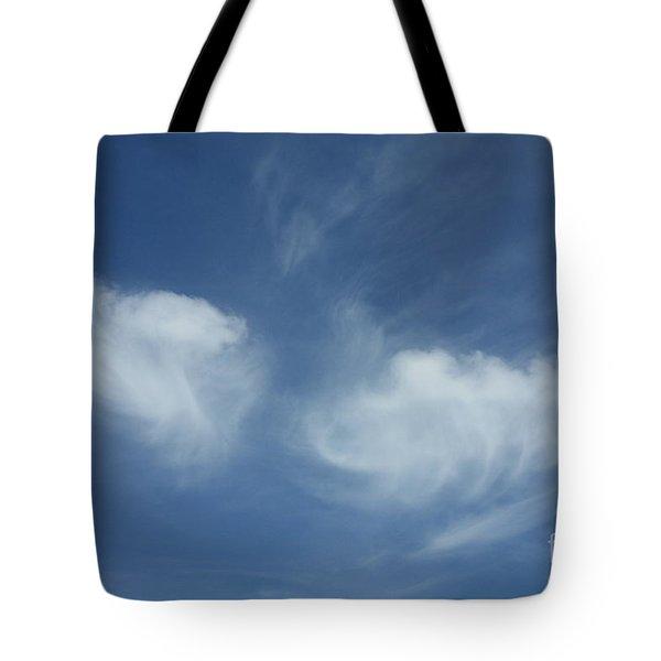 Angel Wings In The Sky Tote Bag by Carol Groenen