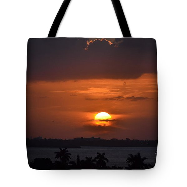 Angel's Head Sunset Tote Bag by Rene Triay Photography