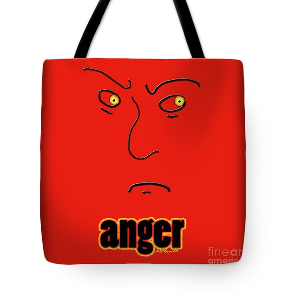 Anger Tote Bag by Methune Hively