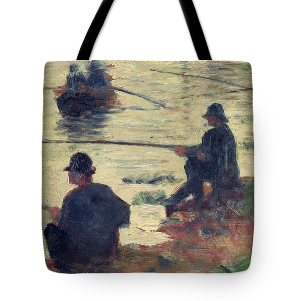 Anglers Tote Bag by Georges Pierre Seurat
