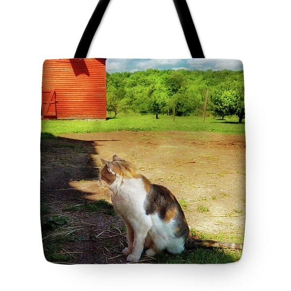 Animal - Cat - The Mouser Tote Bag by Mike Savad