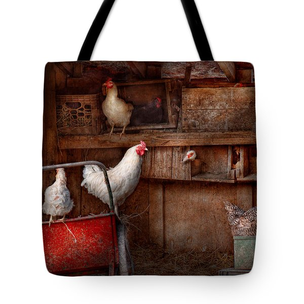 Animal - Chicken - The Duck Is A Spy  Tote Bag by Mike Savad