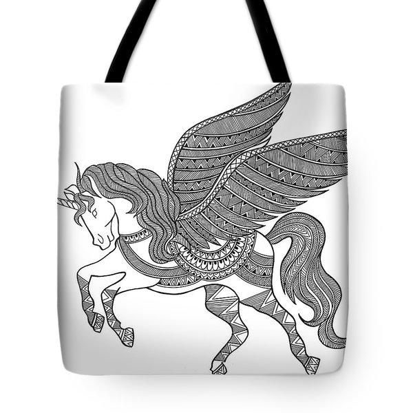 Animal Unicorn Tote Bag by Neeti Goswami