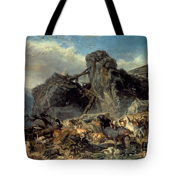 Animals Leaving The Ark, Mount Ararat  Tote Bag by Filippo Palizzi