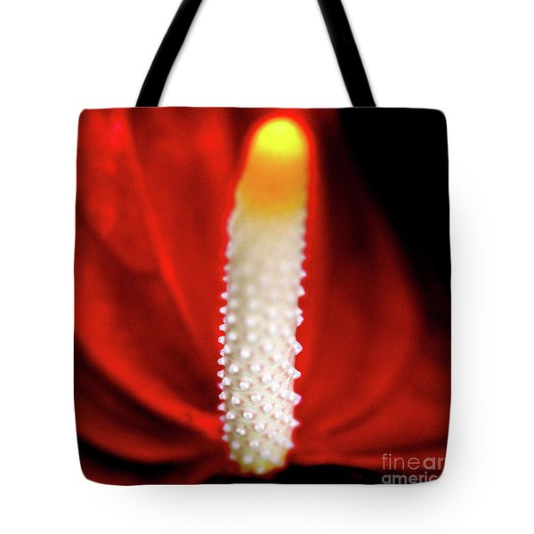 Anthurium Red Flamingo Flower . Square . 7d5567 Tote Bag by Wingsdomain Art and Photography
