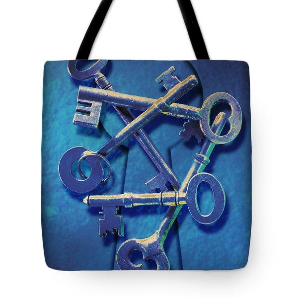 Antique Keys Tote Bag by Kelley King