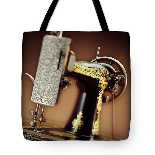 Antique Singer Sewing Machine 2 Tote Bag by Kelley King