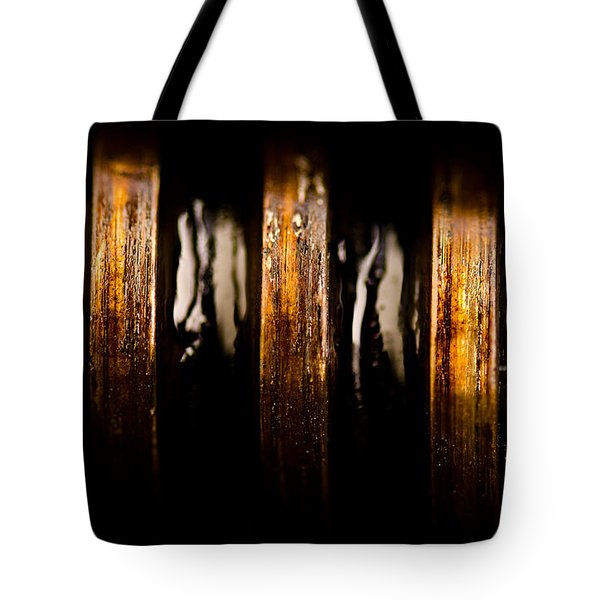 Antique Vise Worm Gear Tote Bag by  onyonet  photo studios
