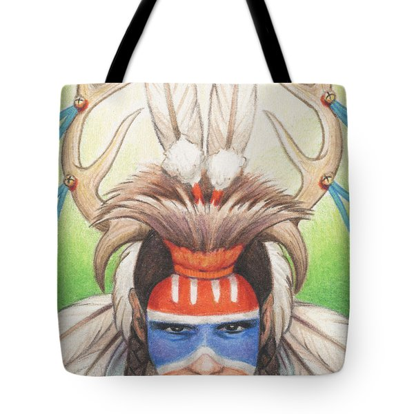 Antlered Warrior Tote Bag by Amy S Turner