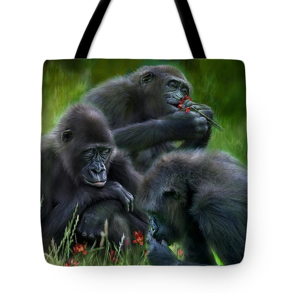Ape Moods Tote Bag by Carol Cavalaris