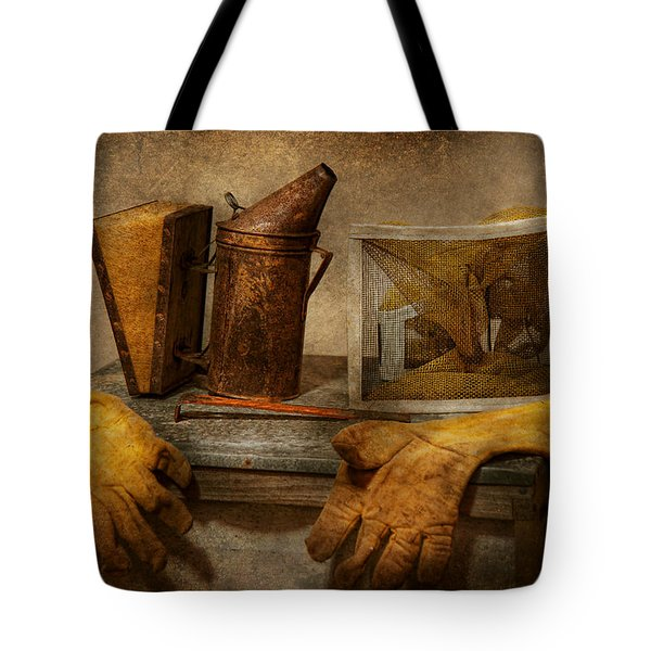 Apiary - The Beekeeper  Tote Bag by Mike Savad