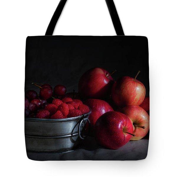 Apples And Berries Panoramic Tote Bag by Tom Mc Nemar
