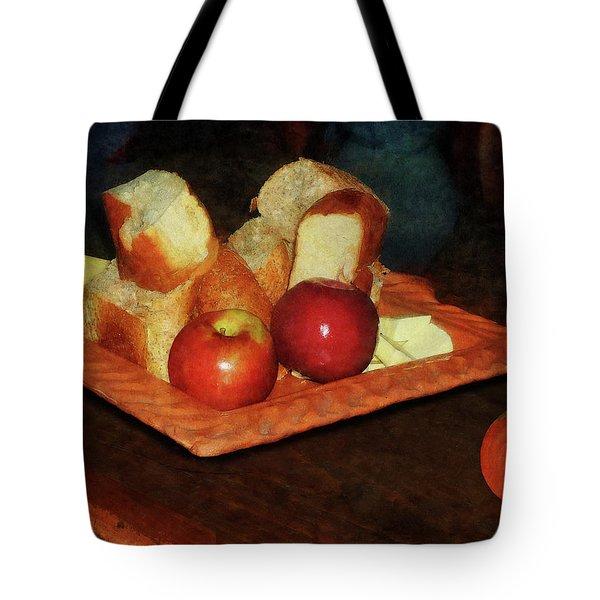 Apples And Bread Tote Bag by Susan Savad