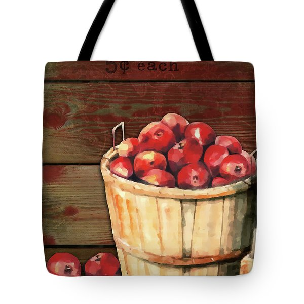 Apples For Sale Tote Bag by Arline Wagner
