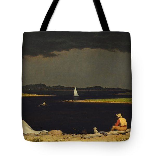Approaching Thunderstorm Tote Bag by Martin Heade