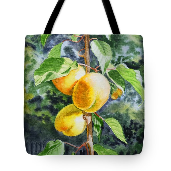 Apricots in the Garden Tote Bag by Irina Sztukowski
