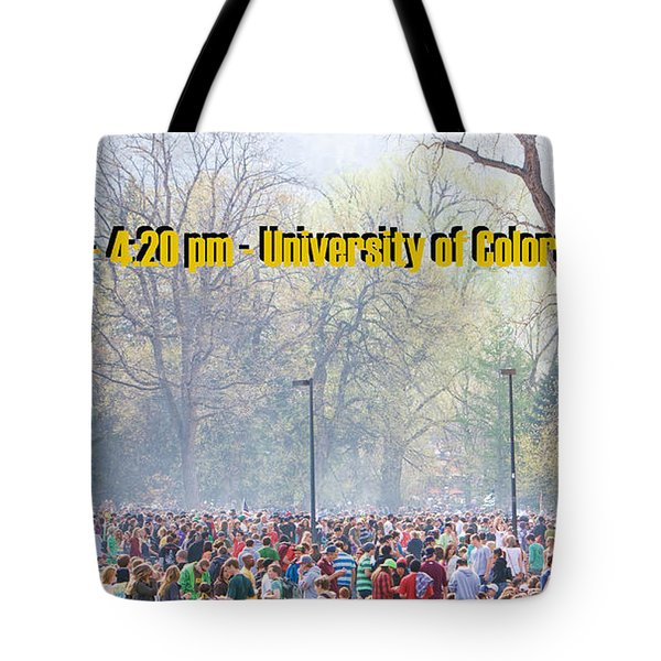 April 20th - University of Colorado Boulder Tote Bag by James BO  Insogna