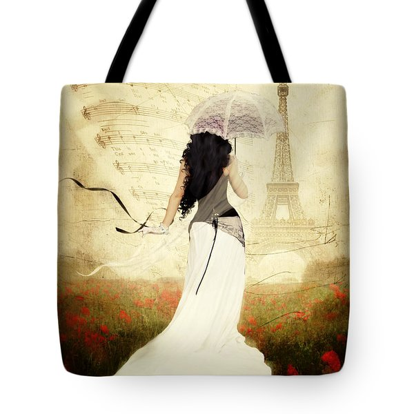 April In Paris Tote Bag by Shanina Conway