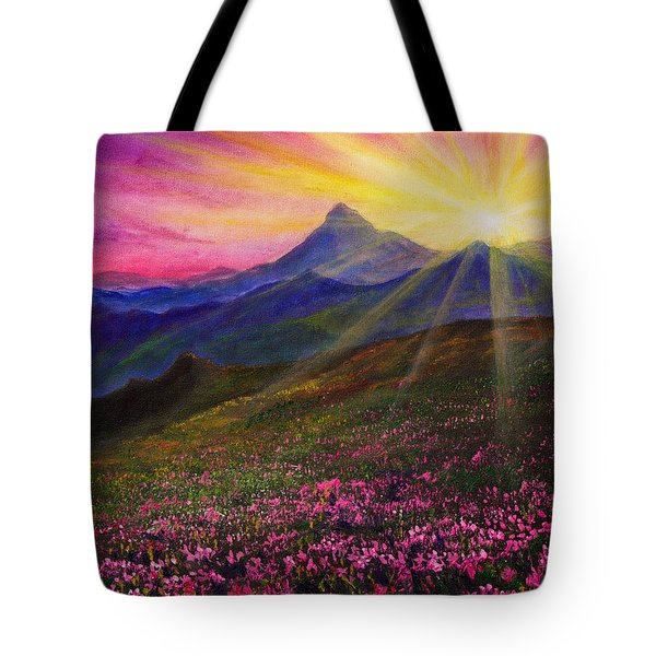 April Sunset Tote Bag by C Steele