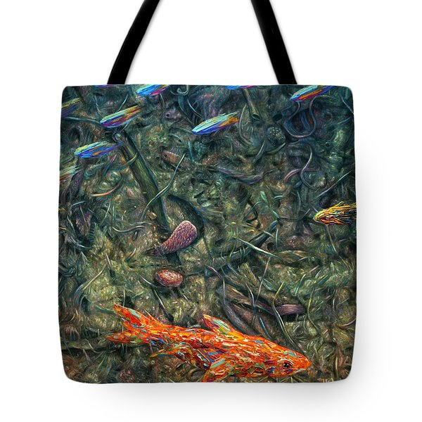 Aquarium 2 Tote Bag by James W Johnson