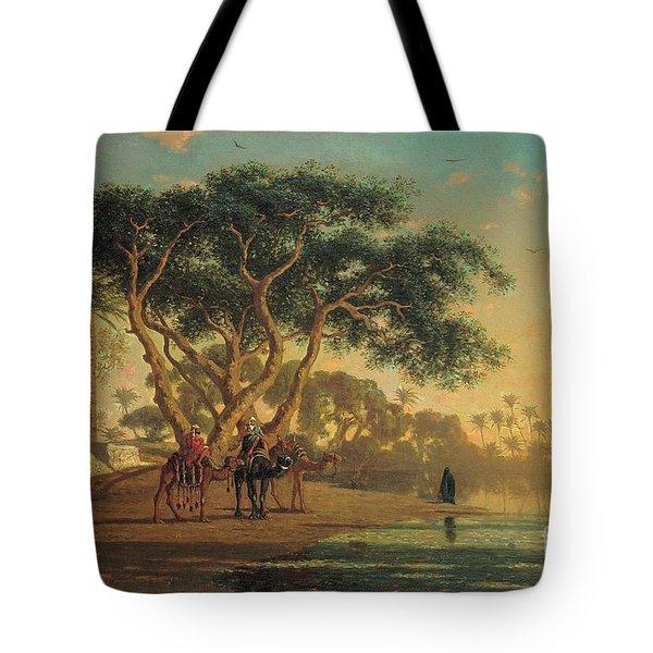 Arab Oasis Tote Bag by Narcisse Berchere