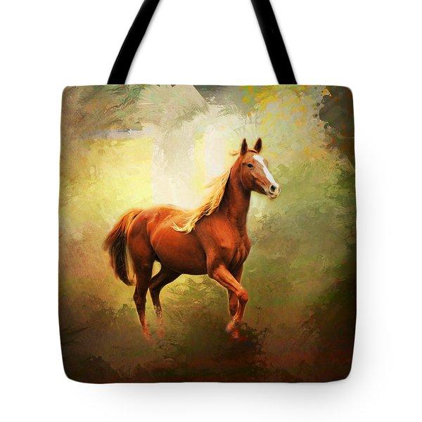 Arabian Horse Tote Bag by Jai Johnson