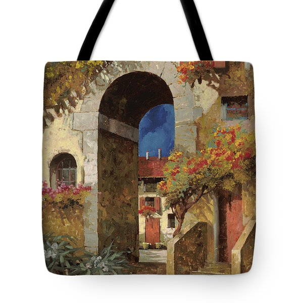 arco al buio Tote Bag by Guido Borelli