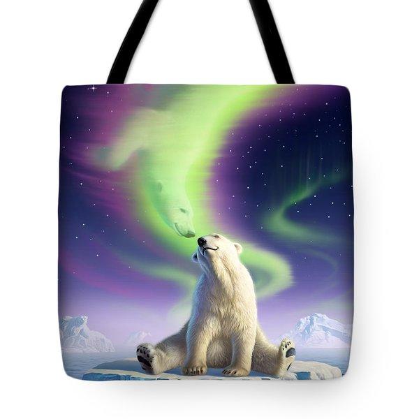 Arctic Kiss Tote Bag by Jerry LoFaro