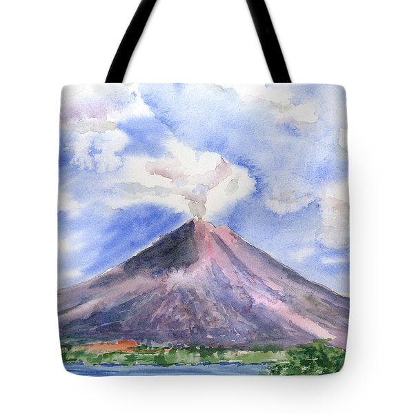 Arenal Volcano Costa Rica Tote Bag by Arline Wagner