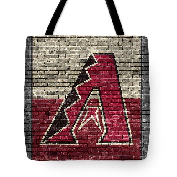 Arizona Diamondbacks Brick Wall Tote Bag by Joe Hamilton
