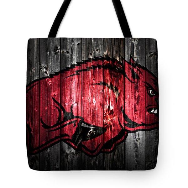 Arkansas Razorbacks 2a Tote Bag by Brian Reaves