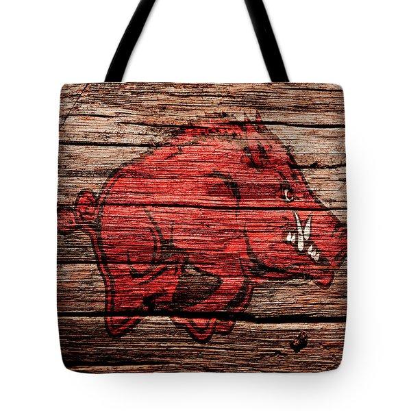 Arkansas Razorbacks Tote Bag by Brian Reaves