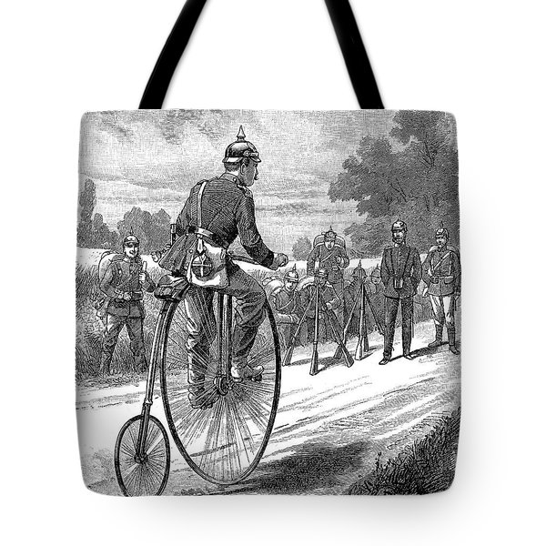 Army Messenger, 1890s Tote Bag by Granger