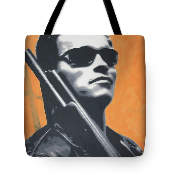 Arnold Schwarzenegger 2013 Tote Bag by Luis Ludzska