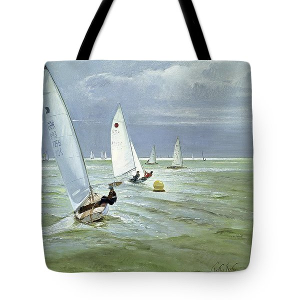 Around The Buoy Tote Bag by Timothy Easton