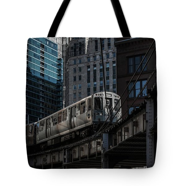 Around The Corner, Chicago Tote Bag by Reinier Snijders