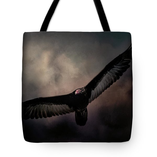 Arrival Of The Vulture Tote Bag by Jai Johnson
