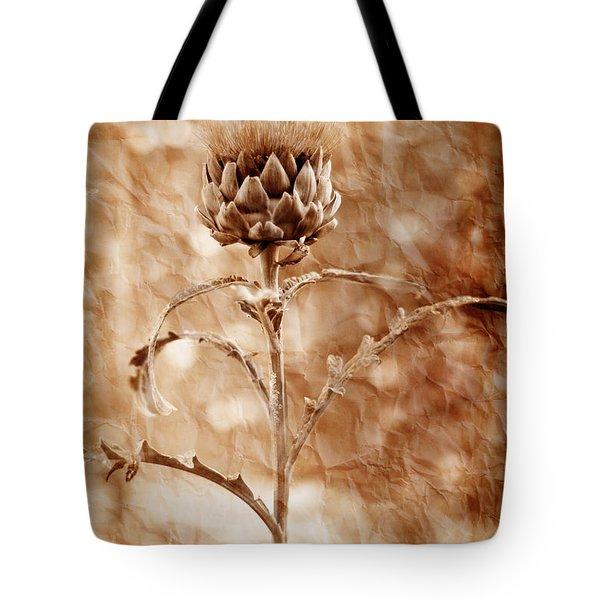 Artichoke Bloom Tote Bag by La Rae  Roberts