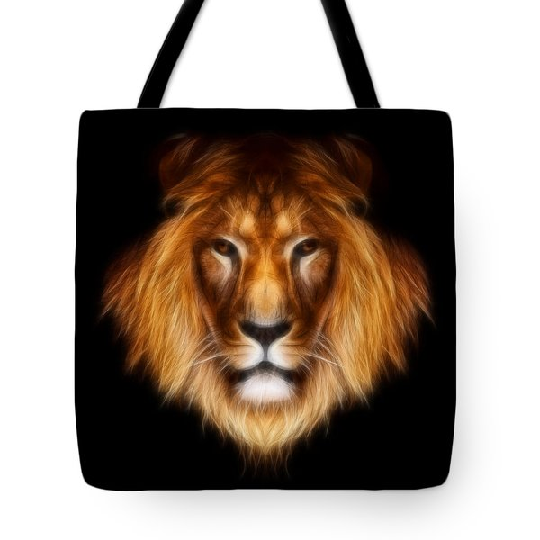 Artistic Lion Tote Bag by Aimelle
