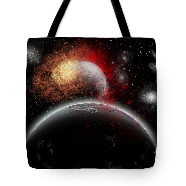Artists Concept Of Cosmic Contrast Tote Bag by Mark Stevenson