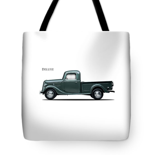 Ford Deluxe Pickup 1937 Tote Bag by Mark Rogan