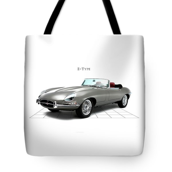 Jaguar E Type Tote Bag by Mark Rogan