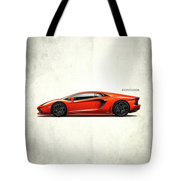 Lamborghini Aventador Tote Bag by Mark Rogan