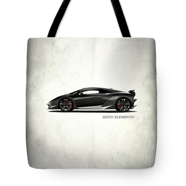 Lamborghini Sesto Elemento Tote Bag by Mark Rogan