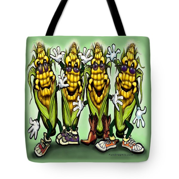 Corn Party Tote Bag by Kevin Middleton