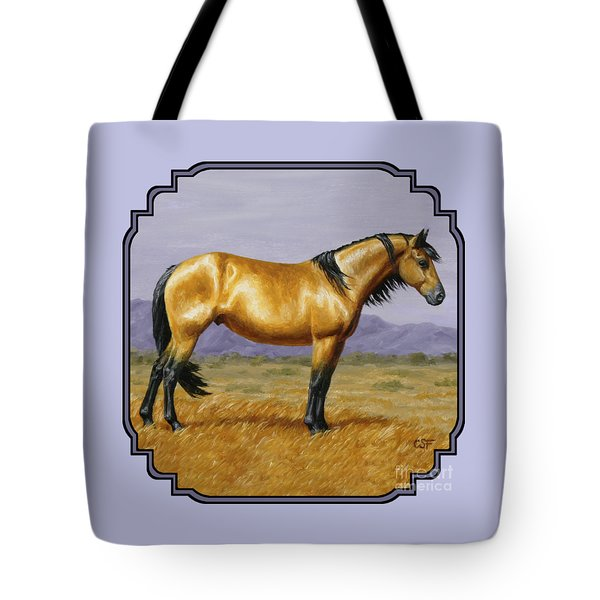 Buckskin Mustang Stallion Tote Bag by Crista Forest
