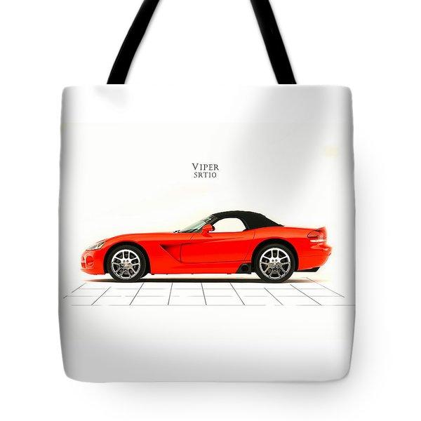 Dodge Viper Srt10 Tote Bag by Mark Rogan