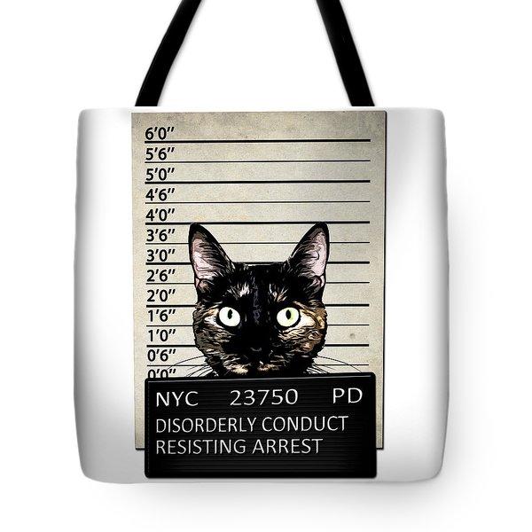 Kitty Mugshot Tote Bag by Nicklas Gustafsson