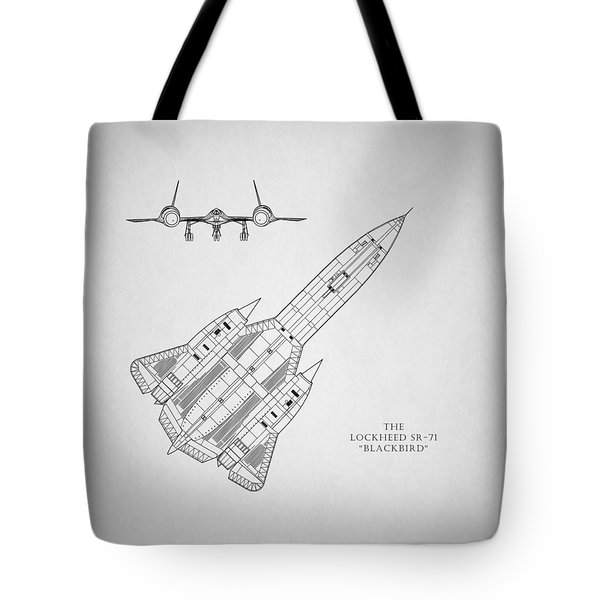 The Lockheed Sr-71 Blackbird Tote Bag by Mark Rogan